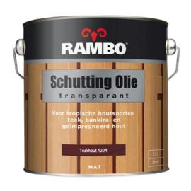 Rambo Schutting Olie Transparant Teakhout 1204 2,5 Liter