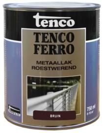 Tenco Ferro Roestwerende IJzerverf  Zijdeglans Bruin 750 ml