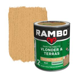 Rambo Pansterbeits Vlonder en Terras Naturel Teak 1220 1 Liter