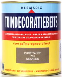 Hermadix Tuindecoratiebeits 715 Pure Taupe Dekkend 750 ml