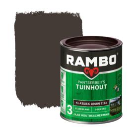 Rambo Pantserbeits Tuinhout  Dekkend Klassiek Bruin 1113 750 ml