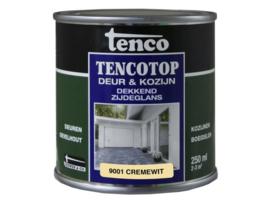 Tencotop Deur & Kozijn Dekkend Zijdeglans RAL 9001 Cremewit 250 ml
