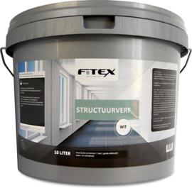 Fitex Structuurverf Wit 2,5 Liter