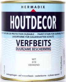 Hermadix Houtdecor Verfbeits Dekkend 619 Wit 750 ml