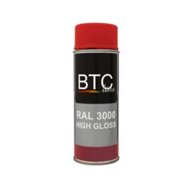 BTC Spuitbus RAL 3000 Vuurrood Hoogglans 400 ml