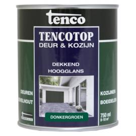 Tencotop Deur & Kozijn Dekkend Hoogglans Donkergroen 750 ml