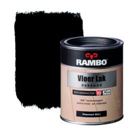 Rambo Vloer Lak Dekkend Zijdeglans Zwart 5011 750 ml