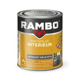 Rambo Pantserlak Interieur Antraciet Grijs 0774 MAT 750 ml