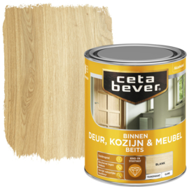 CetaBever Deur-, Kozijn- en Meubelbeits Blank Hoogglans 750 ml