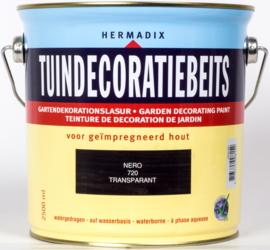 Hermadix Tuindecoratiebeits 720 Nero Transparant 2,5 Liter