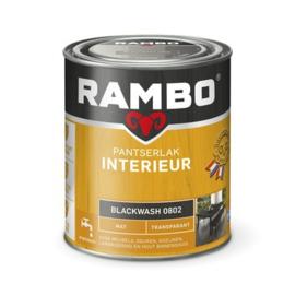 Rambo Pantserlak Interieur Blackwash 0802 MAT 750 ml
