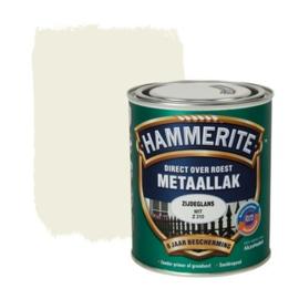 Hammerite Metaallak Zijdeglans Wit  Z210 750 ml