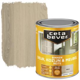 CetaBever Deur-, Kozijn- en Meubelbeits Grijs Zijdeglans 750 ml