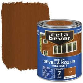 Cetabever Snel Beits Gevel & Kozijn Transparant Teak 750ml