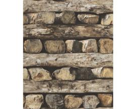 Rasch Home Style Houtstapel Behang 931808