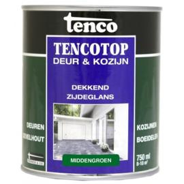 Tencotop Deur & Kozijn Dekkend Zijdeglans Middengroen 750 ml