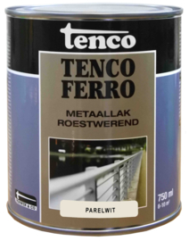 Tenco Ferro Roestwerende IJzerverf  Zijdeglans Parelwit 750 ml