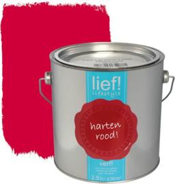 Lief Lakverf Harten Rood 1 liter