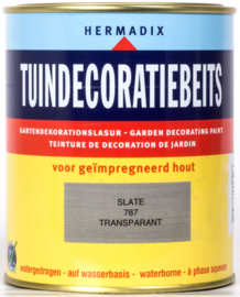 Hermadix Tuindecoratiebeits 787 Slate Transparant 750 ml
