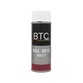 BTC Spuitbus RAL 9010 Zuiver Wit Mat 400 ml