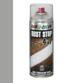 Dupli Color Rust Stop 4 in 1 Satin Matt RAL 9006 Wit Aluminium 400 ml