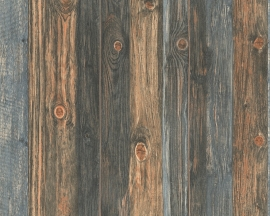 As Creation Wood  'n Stone Hout Planken Behang  9086-12
