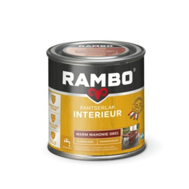 Rambo Pantserlak Interieur Warm Mahonie 0801 ZIJDEGLANS 250 ml