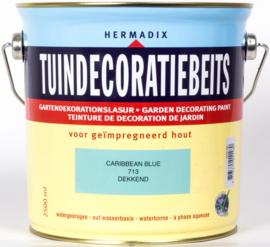 Hermadix Tuindecoratiebeits 713 Caribbean Blue Dekkend 2,5 Liter