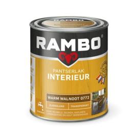 Rambo Pantserlak Interieur Warm Walnoot 0772 ZIJDEGLANS 750 ml
