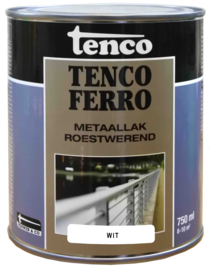 Tenco Ferro Metaallak Roestwerend Zijdeglans Wit 750 ml