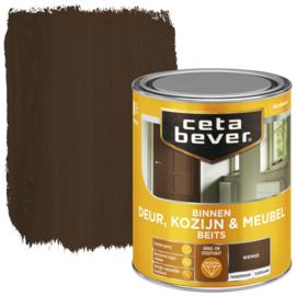 CetaBever Deur-, Kozijn- en Meubelbeits Wenge Zijdeglans 750 ml