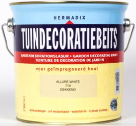 Hermadix Tuindecoratiebeits 719 Allure White Dekkend 2,5 Liter