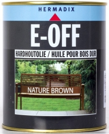 E-OFF Hardhoutolie Nature Brown 750 ml