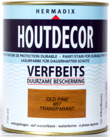 Hermadix Houtdecor Verfbeits Transparant 657 Old Pine 750 ml