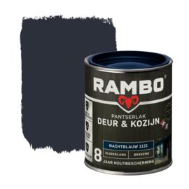 Rambo Pantserlak Deur en Kozijn Dekkend Zijdeglans Nachtblauw 1121 750 ml