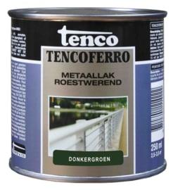 Tenco Ferro Roestwerende IJzerverf  Zijdeglans Donkergroen 250 ml