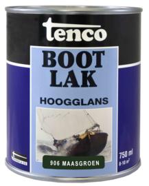 Tenco Bootlak Hoogglans 906 Maasgroen 750 ml
