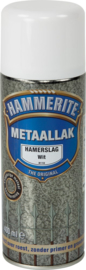 Hammerite Metaallak Hamerslag H110 Wit Spuitbus 400 ml