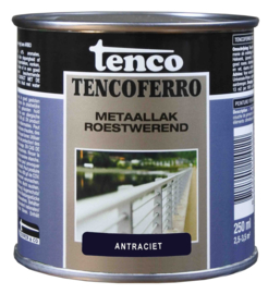 Tenco Ferro Metaallak Roestwerend Zijdeglans Antraciet 250 ml