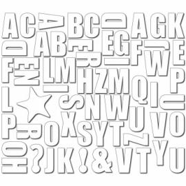 Magneetset Numbers & Figures  White  47 Stuks
