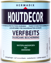 Hermadix Houtdecor Verfbeits Dekkend 621 Waterland Groen 750 ml