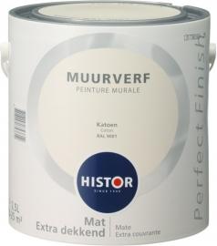 Histor Perfect Finish Muurverf Mat  Katoen 9001 5 Liter
