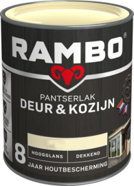 Rambo Pantserlak Deur en Kozijn Dekkend Hoogglans Ivoorwit 1101 750 ml