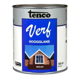 Tenco Verf Hoogglans Bruin 750 ml