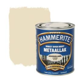Hammerite Metaallak Creme S012 Hoogglans 750 ml