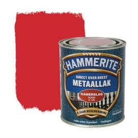 Hammerite Metaallak Hamerslag Rood H140 750 ml