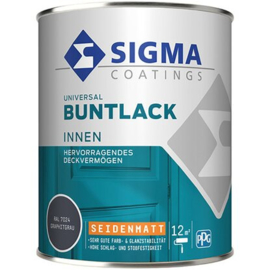 Sigma Universal Buntlack Binnen Zijdeglans RAL 7024 750 ml