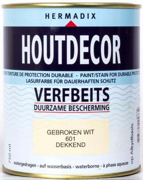 Hermadix Houtdecor Verfbeits Dekkend 610 Bruin 2,5 Liter