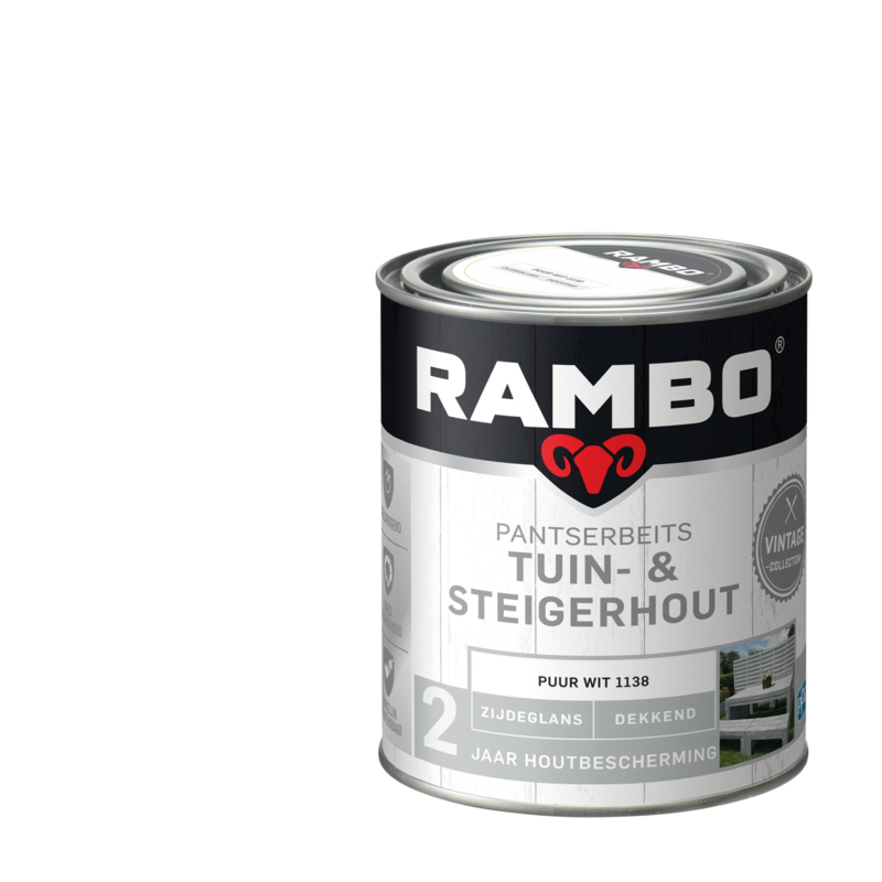 Rambo / Bondex  Tuin & Steigerhout Puur Wit 1138 750 ml