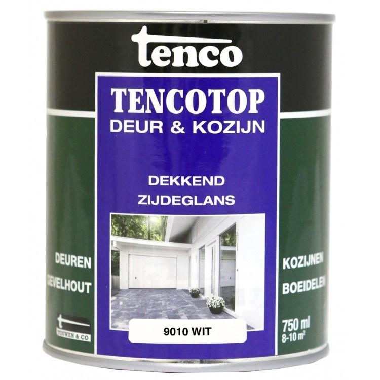 Tencotop Deur & Kozijn Dekkend Zijdeglans RAL 9010 Wit 750 ml